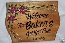 PERSONALIZED Custom SIGNw/Family NAME HomeWood Plaque#2