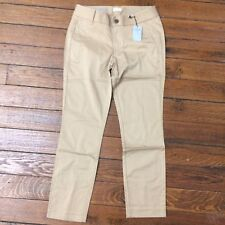 NEW $69 J CREW Factory 4P Petite Frankie Ankle Saddle Beige Chino Pants Skinny