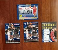 2021 NBA HOOPS 4 CARD ZION  WILLIAMSON INSERT LOT