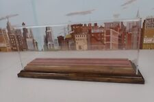 Transquip O Scale Trolley / Engine Display Case With Wood Base & Red Brick Road