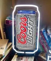 """LITE SODA CAN BEER BAR BUDWEISER BUD LIGHT NASCAR SIGN 13""""X7"""" NEON LIGHT COORS"""
