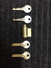 """Yale KIK Cylinder with 2 original keys blanks & 2 Cut keys  """"GE"""" Keyway"""