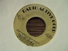 "LOVIN' SPOONFUL Didn't Want To Have To Do It 7"" 45 Radio Active Gold reissue"