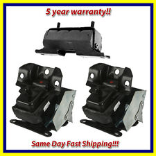 Engine & Trans. Mount Set 3PCS. for Escalade Silverado 1500 Tahoe Yukon 4WD V8