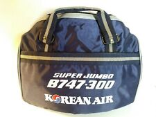 Vintage Korean Air Super Jumbo Carry On Bag Vinyl Canvas B747-300 New