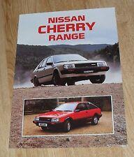 NISSAN CHERRY BROCHURE GAMMA 1986-Turbo ZX L GS SGL 3 e 5 PORTE