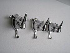 Aluminium Rhinoceros Head Wall Hooks Rhino coat hook Set of 3 pcs HOME DECOR EDH