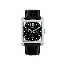 Guess Mens Designer Watch RRP £175 - Sale Price - Square Day Date - W13593G1