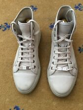 Gucci Men Shoes Trainers High Top Cream White Leather Sneaker UK 7.5 US 8.5 41.5