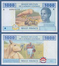 CENTRAL AFRICAN STATES / GABON 1000 Francs 2002 UNC P.407A b
