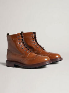 Dunhill Country Brogue Boot 7UK 41IT Tan BNWB RRP £725 Made In Italy