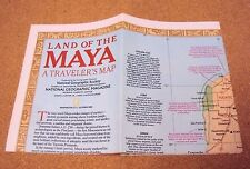 National Geographic Magazine October Oct 1989 Traveler's Map Land Of The MAYA