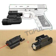 Airsoft Mini Pistol Light QD Handgun Flashlight Laser fit Glock 17 19 18C 24
