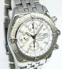 Breitling Chronomat Evolution Steel MOP Diamond Dial Mens 44mm Watch A13356