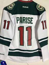 Reebok Women's Premier NHL Jersey Minnesota Wild Zach Parise White sz L