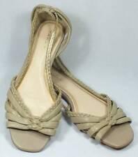 Elie Tahari Designer Leather Sandals VIENNA Size 8.5 Taupe NEW