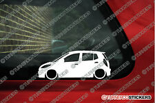 2x Lowered car stickers  - for Hyundai i10, (PA; 2007-2014)