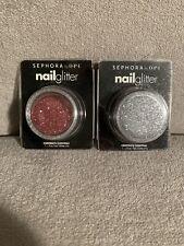 2 Sephora By OPI Nail Glitter Pots -  SILVER & PINK