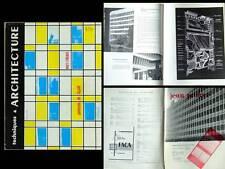 TECHNIQUES ET ARCHITECTURE 1960 Jean Prouvé, PANNEAUX DE FACADE, MURS RIDEAUX