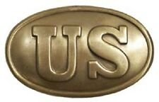 "3"" US OVAL BELT BUCKLE UNION CIVIL WAR REPRODUCTION NEW"