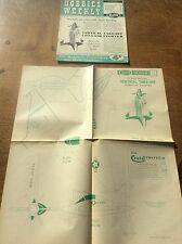 1955 Hobbies Weekly Magazine 1950s Model Vertical Take Off Convair Fighter Plane