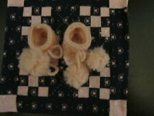 """Darling Wool Booties Made For 11"""" Tiny Tears Betsy Wetsy Effanbee Or Similiar"""