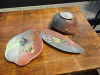 """Shorter & Son """" Harmony"""" Leaf Shaped Dish,  Boat Shaped  Bowl & Elongated Server"""