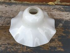 Old Vintage French Glass Light Shade Opal White