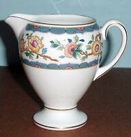 Wedgwood Harcourt Creamer Globe Bone China Floral Motif W/ Gold Trim New