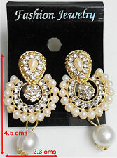 Goldplated Ice Girl Stud Earrings Jewelry White Round Sun Cubic Ad Zircon 24K