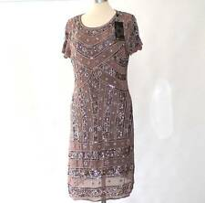 NWT Flapper Gatsby Sequin Bead Embellished Dress Dip Hem By RISE UK 10 RRP £70