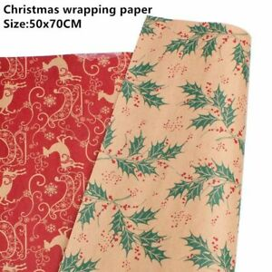 Wrapping Paper Christmas Gift Kraft Roll Wrap Holiday Party Decoration Supplies