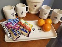 RAE DUNN Coffee Tea Cocoa Chai ICON SERVING TRAY/PLATTER New
