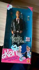 Sparkle Surprise Ken Doll #3149 1991 Mattel, Inc. in box Barbie Rare shiny suit