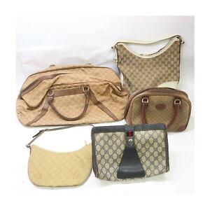 Gucci PVC Canvas Hand Bag Clutch 5 pieces set 525479