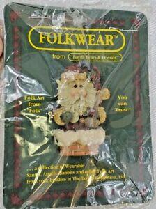 1995 Folkwear SLIKNICK ON THE CHIMNEY #26301- Boyd's Bears Pin Brooch- SANTA
