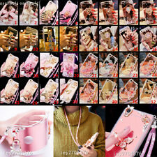 Bling Diamonds Ring Kickstand Soft case cover for Aplle IPHONE 12 12 PRO MINI