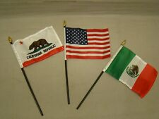 New Listing3 Flag Set Includes Mexico Usa Amp California Flags For License Plate Topper Fits 1958 Chevrolet Truck