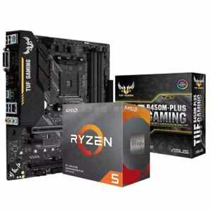 Asus TUF B450M-PLUS GAMING Motherboard combo kit set Ryzen 5 3500X AM4 CPU DDR4
