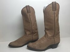 VTG WOMENS JUSTIN COWBOY SOFT LEATHER LIGHT BROWN BOOTS SIZE 7 B