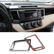 Chrome Air Condition Vent Outlet Cover Trim Decoration For Toyota RAV4 2013-2018