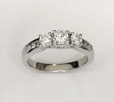 Diamond Engagement Ring, 18ct White gold