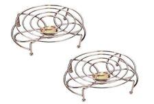 Apollo Food Warmer Double/Single with Tea Light Candles Chrome Rack Stand