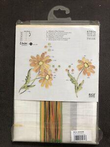 stickpackung rico Design Tischdecke Blumen Margeriten Orange