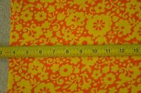 """By-the-Half-Yard, 44"""" Wide, Vintage Yellow Floral on Orange Cotton, M5192"""