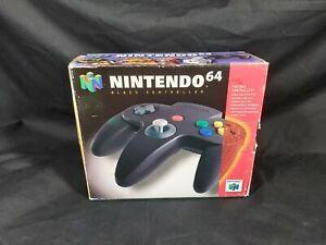 N64 Nintendo 64 Black Controller boxed VGC