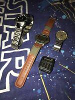 Vtg Casio CA-53W Calculator Watch DB 34-H EFA 101+timex 4pc Lot For Parts Repair