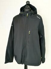TOG24 Men's Reactors Softshell Jacket Hooded Size 3XL XXXL Black Active  -E296
