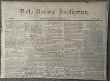 Five 1807-1876 Newspapers - Slave Ads/Pirates/Col. Burr & Gen. Adair/Hiring Pol.