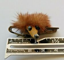 Vintage Estate Super Weird Furry Hedgehog Rare Retro Clip